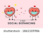 covid 19 and social distancing... | Shutterstock .eps vector #1862105986