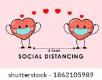 covid 19 and social distancing...   Shutterstock .eps vector #1862105989