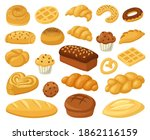 cartoon bakery food. pastry... | Shutterstock .eps vector #1862116159