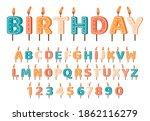 candles birthday alphabet.... | Shutterstock .eps vector #1862116279