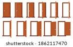 door animation. opened and...   Shutterstock .eps vector #1862117470