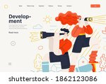 business topics   development ... | Shutterstock .eps vector #1862123086