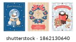 A Set Of Christmas Cards With A ...