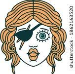 retro tattoo style human rogue... | Shutterstock .eps vector #1862163520