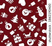 christmas seamless pattern of... | Shutterstock .eps vector #1862190400