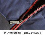 Metallic Zip Lock On A Warm...