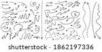 vector set of drawn arrows.... | Shutterstock .eps vector #1862197336