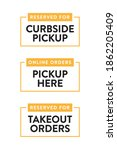 curbside pick up text  food... | Shutterstock .eps vector #1862205409