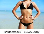 sexy young woman with sport... | Shutterstock . vector #186222089
