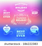elements for summer holidays... | Shutterstock .eps vector #186222383
