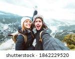 Happy Couple Taking A Selfie...