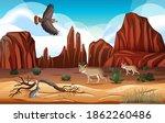 desert with rock mountains...   Shutterstock .eps vector #1862260486