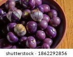 Purple Tomatillos In An...