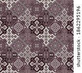 Kilim Bohemian Seamless Pattern ...
