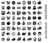 set flat black icons  64... | Shutterstock .eps vector #186230000