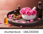 spa and aromatherapy set with... | Shutterstock . vector #186230300