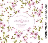 flower texture of sakura... | Shutterstock .eps vector #186230900
