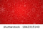 snow red background. christmas... | Shutterstock . vector #1862315143