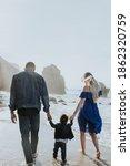 interracial family walking... | Shutterstock . vector #1862320759