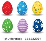 easter eggs | Shutterstock .eps vector #186232094
