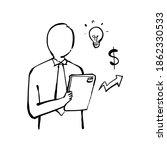 online worker doodle white... | Shutterstock .eps vector #1862330533