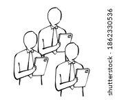 online worker doodle white... | Shutterstock .eps vector #1862330536