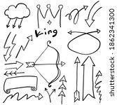 arrow icon doodle simple line | Shutterstock .eps vector #1862341300