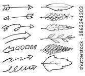 arrow icon doodle simple line | Shutterstock .eps vector #1862341303