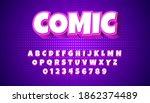 comics style font  alphabet... | Shutterstock .eps vector #1862374489
