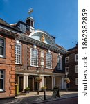 Small photo of ROCHESTER, KENT, UK - 09.13.2019: The front facade of Rochester Guildhall Museum, an historic 17th Century building located in the High Street