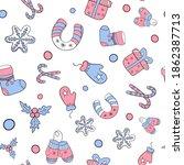 children's winter pattern with...   Shutterstock .eps vector #1862387713