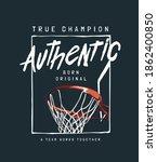 true champion authentic slogan... | Shutterstock .eps vector #1862400850