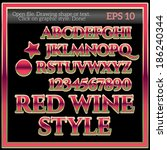 classic red wine graphic style | Shutterstock .eps vector #186240344