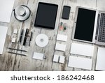 mockup business template | Shutterstock . vector #186242468