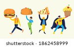 people with different meals  ...   Shutterstock .eps vector #1862458999