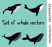 set of whale vector cartoon... | Shutterstock .eps vector #1862459923