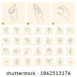 a set of isolated gestures for... | Shutterstock .eps vector #1862513176