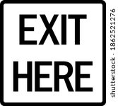 exit here sign. parking slot... | Shutterstock .eps vector #1862521276