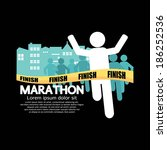 marathon vector illustration | Shutterstock .eps vector #186252536