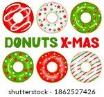Christmas Donuts Set. Green ...