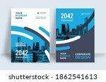 corporate book cover design... | Shutterstock .eps vector #1862541613
