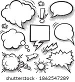 a set of comic bubbles and... | Shutterstock .eps vector #1862547289