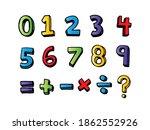 kids colored cartoon numbers... | Shutterstock .eps vector #1862552926