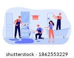 professional plumber team... | Shutterstock .eps vector #1862553229