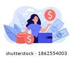 happy female entrepreneur...   Shutterstock .eps vector #1862554003
