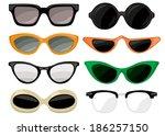 sunglasses vintage set | Shutterstock .eps vector #186257150