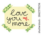 cute valentine's day greeting... | Shutterstock .eps vector #1862578156