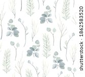 christmas watercolor seamless... | Shutterstock . vector #1862583520