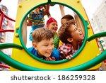 image of joyful friends having... | Shutterstock . vector #186259328