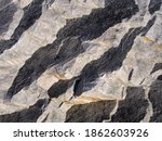 Texture Of Split Granite Rock